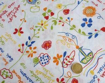 """New cotton fabric """"lenço dos namorados"""" print 1 x 1,60 m (39,37x63 inch)"""