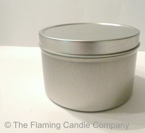 Four 6 oz. Tin Candle Containers