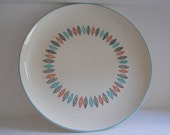 Reserved -Vintage Nordic Mint Round Platter by Stetson Marcrest, 1950's