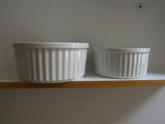 Arabia Souffle Baking Dishes or Casseroles, made in Finland. Set of 2.