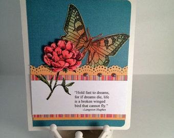 Dreams by Langston Hughes handmade greeting card