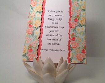 George Washington Carver (common things) Greeting Card