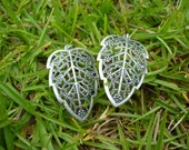 Metal Leaf Intricate Design Leaf Charms 2pcs.
