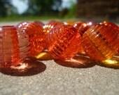 statement beads 16 mixed pink, yellow, and orange
