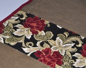 Table runner 4 matching  placemats table mats floral print cotton and cord Long table cloth