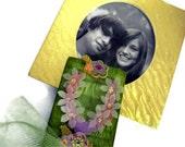 Clothespin Photo Holder, Altered Clothespin, Photo Holder, Home Decor - Hawaiian Souvenir / Luau Party