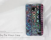 """Samsung Galaxy S II Case - artistic hard plastic WRAP case with vibrant artwork """"Malaya"""" for Droid Galaxy S 2 - AT&T"""