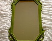 Ornate Green Wall Mirror Shabby Chic