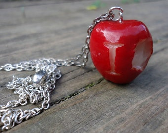 Large IOU Apple Necklace - Moriarty, BBC Sherlock