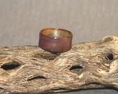 Mauve, Purple, Violet,  Enameled Copper Ring, Size 5.5