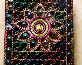 Hand Stitched Embroidered Colorful IPod, Cell Phone Holder, Pouch Bag