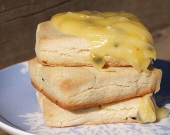 6pk Lemon or Passionfruit Shortbread Gluten free / egg free with Lemon or Passionfruit Glaze