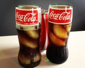 Recycled Coca-Cola Coke Glass Bottle Drinking Glass - One Glass