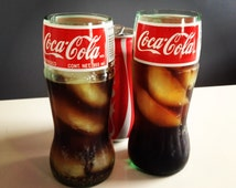 Recycled Coca-Cola Coke Glass Bottle Drinking Glass