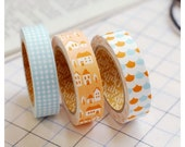 Adhesive Deco fabric tape set of 3 tapes - homey