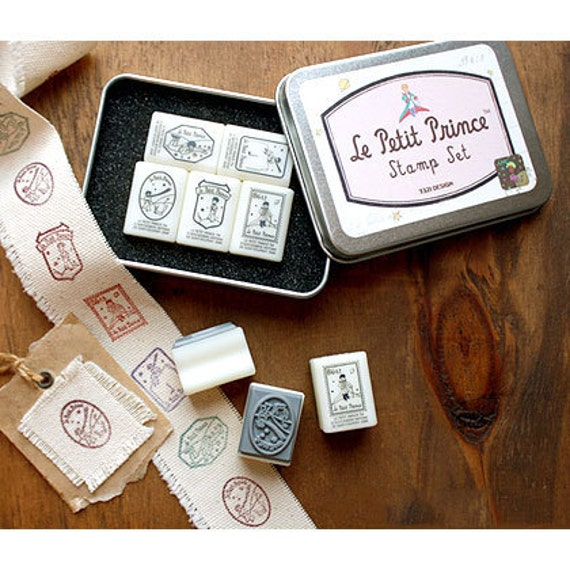Little prince rubber stamp set of 5