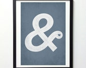 Ampersand Wall Art, Typography Poster, Vintage-Style Monogram Print, Ampersand Print, Ampersand Sign, Love Sign, Typography Wall Art