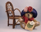 Vintage Boyds Bear - Yvette Dubeary with Chair - Archive Collectibles - Retired