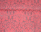 Cotton Brocade with Rubberized Back - Red and Black Brocade - 40 x 36 inches - DESTASH