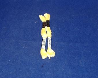 DMC 727 - Very Light Topaz Embroidery Floss - 2 Skeins - Brand New - Destash