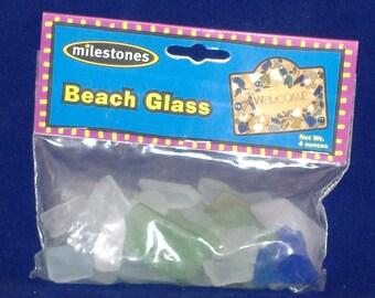 Milestones Beach Glass, Green, Blue, Frosty - 4 oz - DESTASH