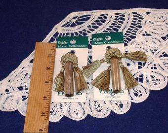 REDUCED PRICE - Tassels, Deluxe Home Collection, Sage Green, Mutli-Tassels - Set of 2 - NIP - Destash