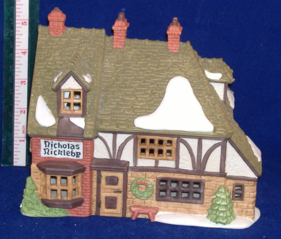 REDUCED Price - Department 56 Nicholas Nickleby Cottage - Dickens Village Series - 1988 - Retired