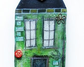 """Original mixed media art """"House of growth and freedom"""""""