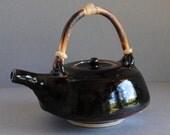 Handmade  Clay Teapot Temmoku