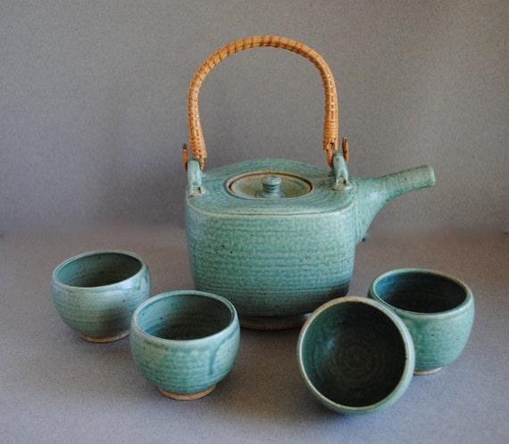 Teapot and Tea Bowl Set