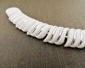 1960s silver white bracelet. TENNIS WHITE.