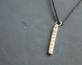 Personalized Men's Swivel Bar Necklace