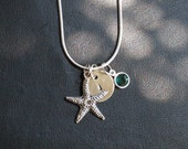 4 Personalized Initial(s) Starfish Necklaces