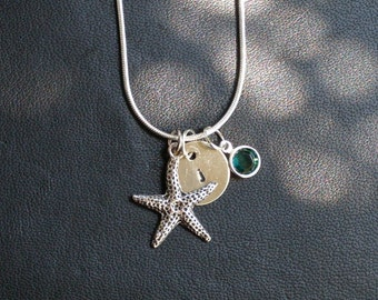 Personalized Initial(s) Starfish Necklace
