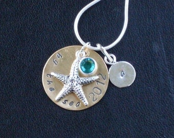 Personalized Starfish Charm Necklace