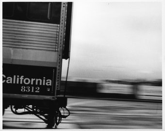 Gold Rush Express, Black and white darkroom print