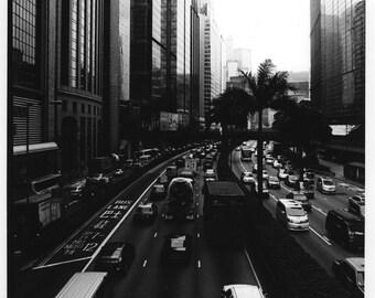 HK in Day, Black and white darkroom print