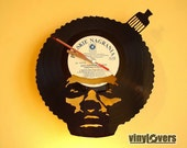 hip hop rap style handmade wall clock from vinyl record afro unique