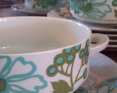 villeroy and boch mod floral soup bowls and saucers