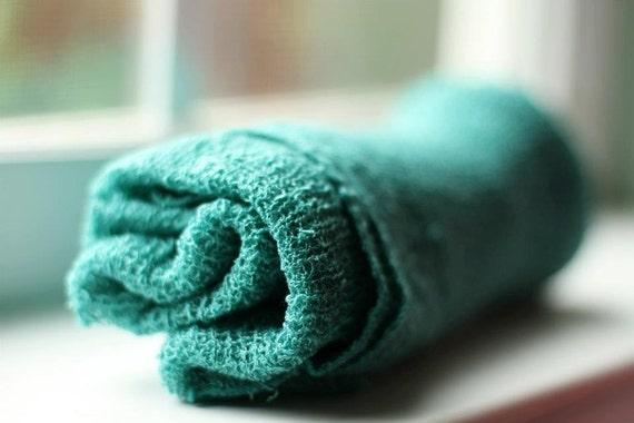 Stretchy Knit Newborn Wrap - Dusty Teal