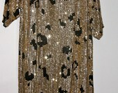 Sequined, leopard print dress
