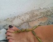 Authentic beads  Foot jewelry Anklet., Nude shoes, Foot jewelry, Wedding, Victorian Lace, Sexy, Lolita, Yoga, Anklet