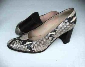 Adrienne Vittadini Phyton Snakeskin Classic Pumps Size 8.5
