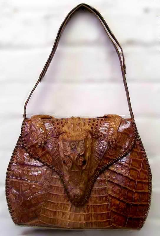 Fabulous Hornback Alligator Skin Purse