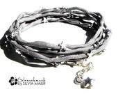 GREY SILK Silk Bracelet