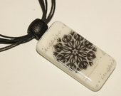 Stampin Up Domino Pendant Necklace - Handstamped
