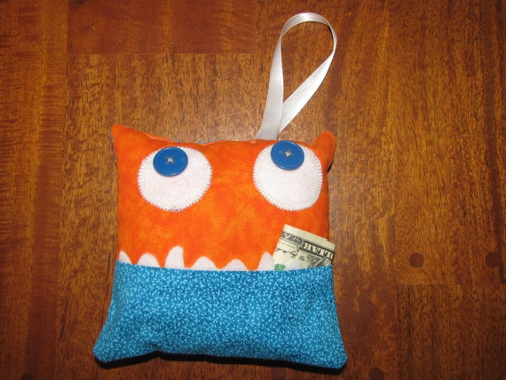 Monster Tooth Fairy Pillow, Fred