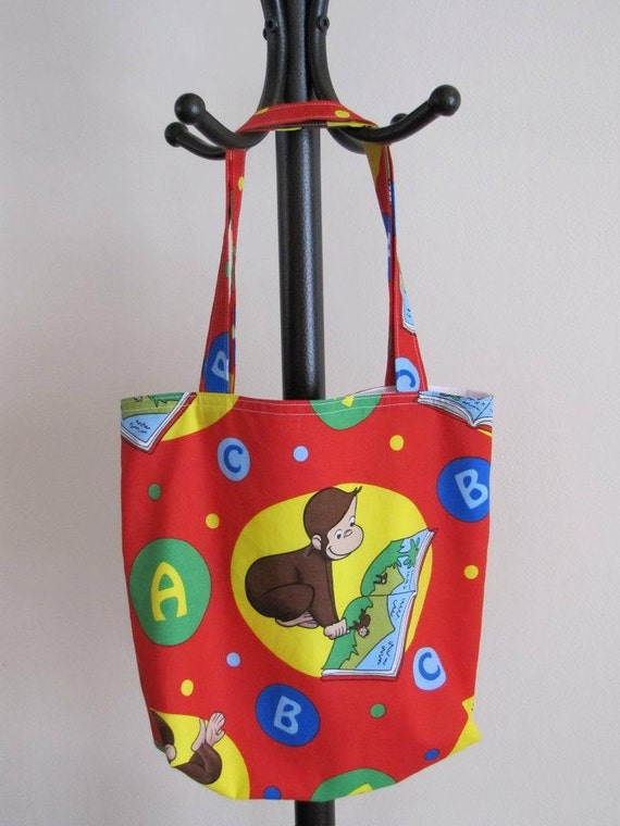 Free Shipping- Curious George Library Bag