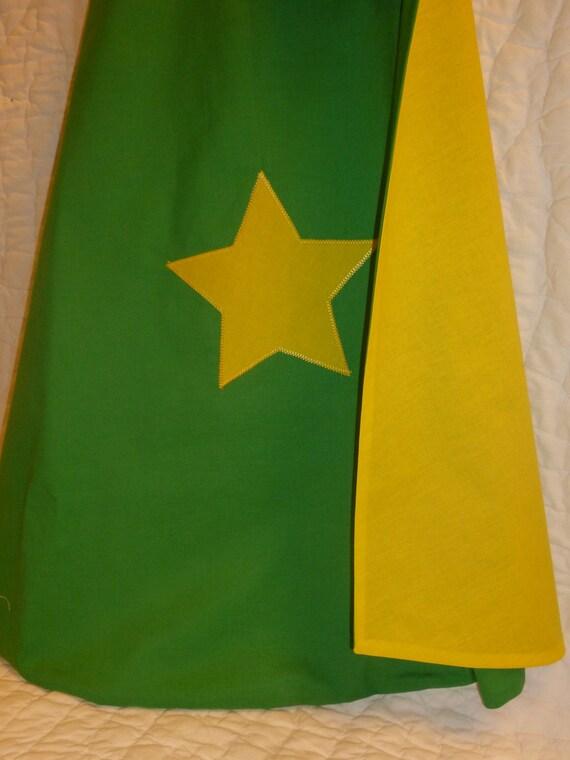 Green Star Super Hero Cape