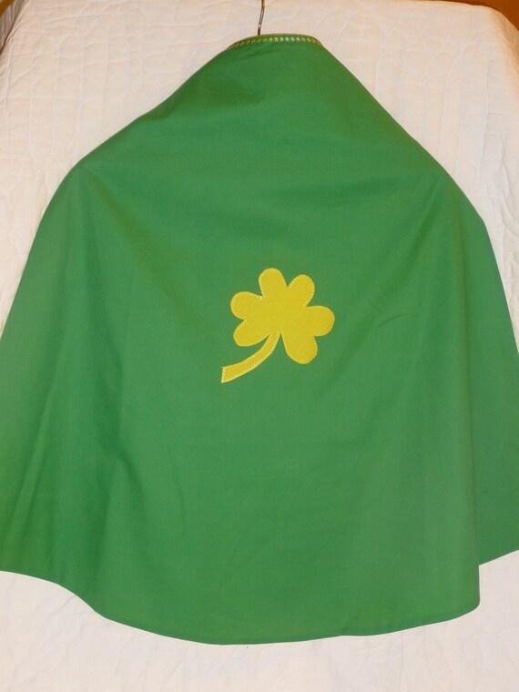 Green Clover Super Hero Cape